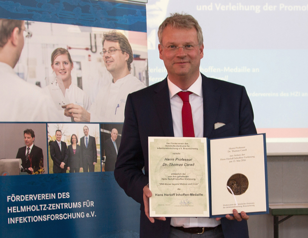 Professor Thomas Carell awarded with Inhoffen Medal